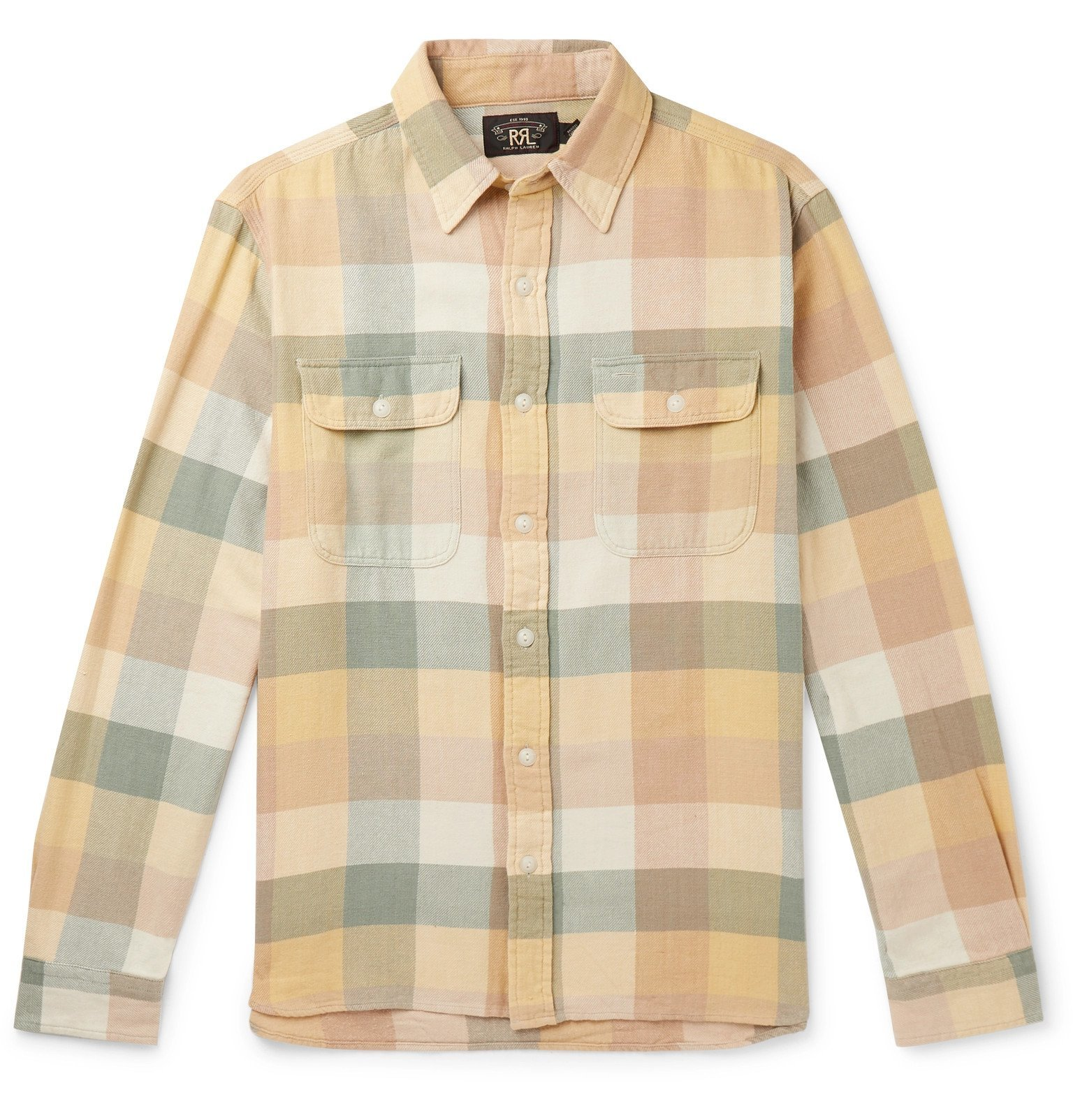RRL - Checked Cotton Shirt - Yellow