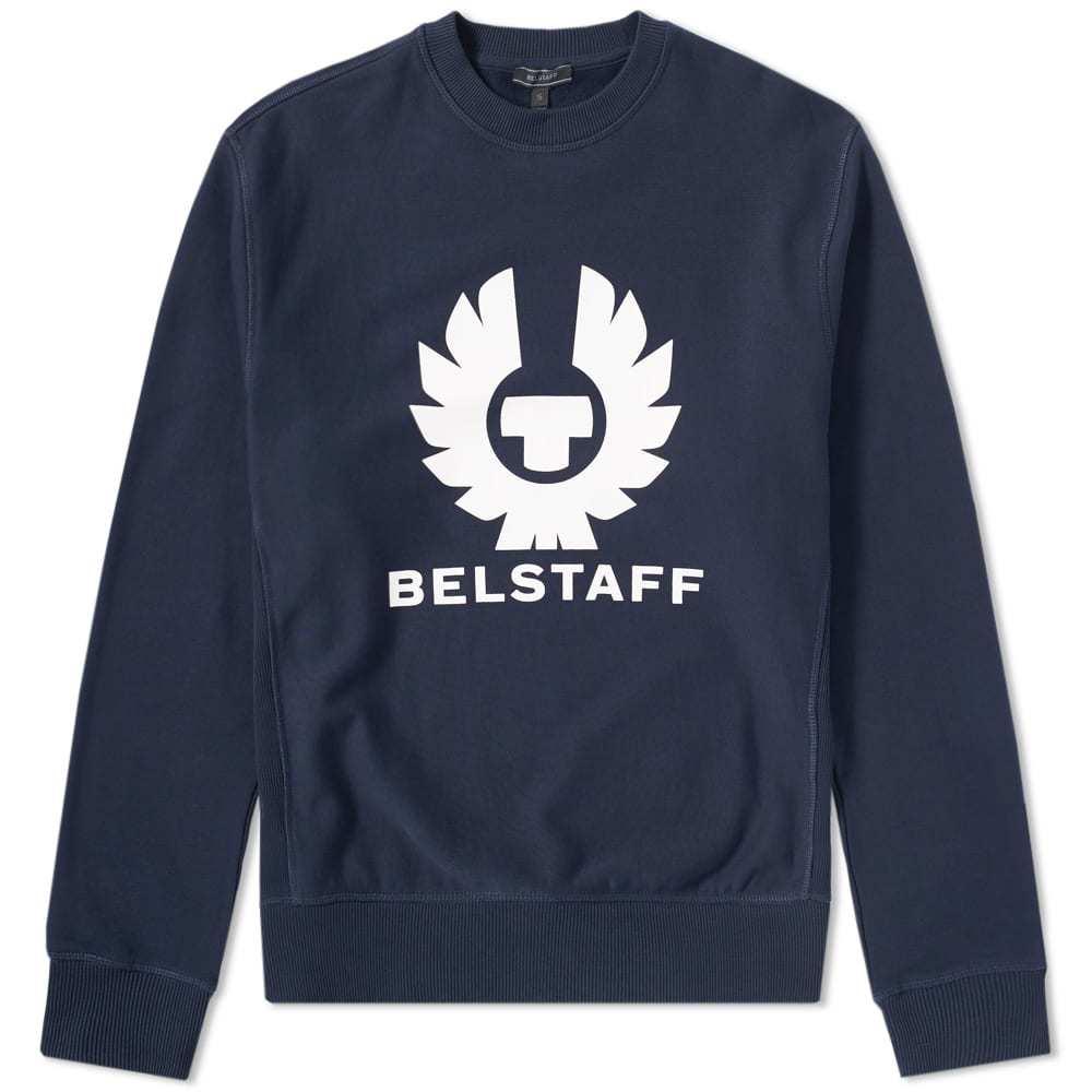 Belstaff Holmswood Logo Crew Sweat Blue