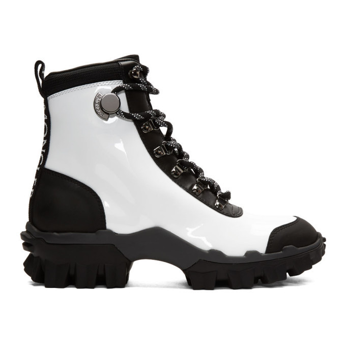 Photo: Moncler White and Black Helis Boots