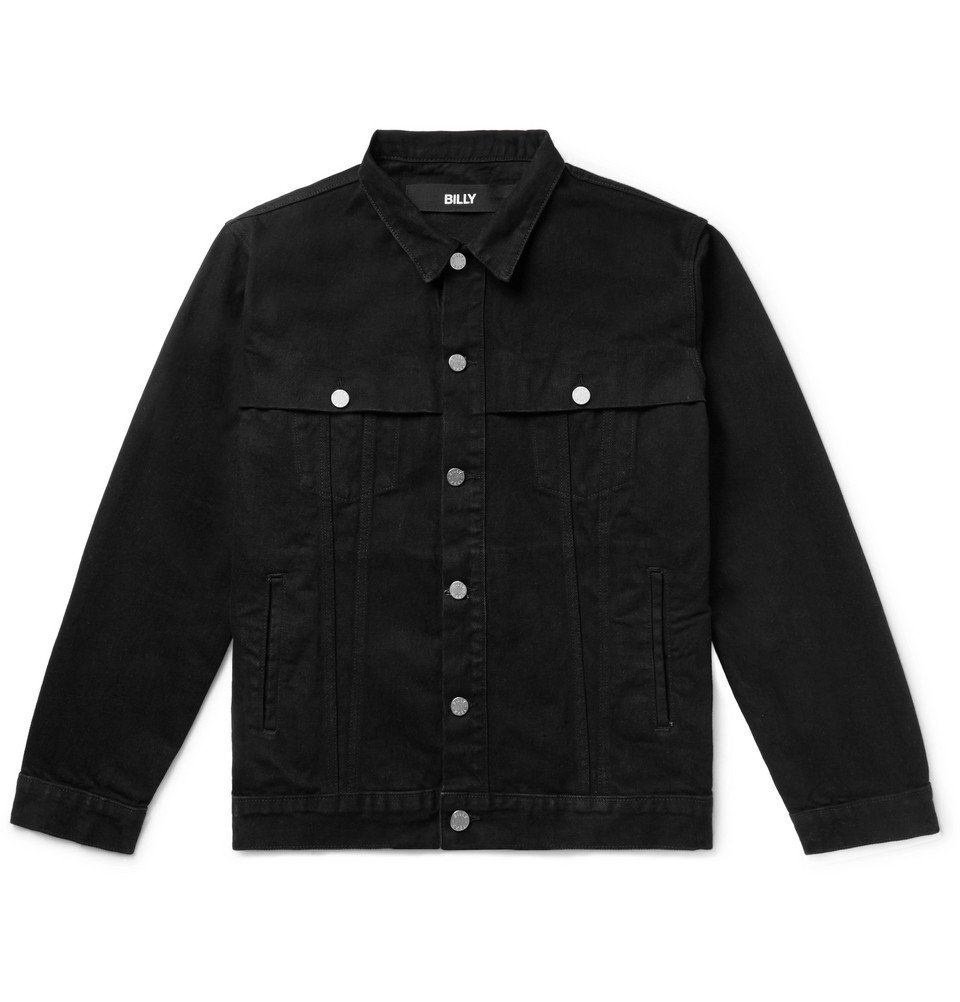 Photo: BILLY - Printed Denim Trucker Jacket - Black