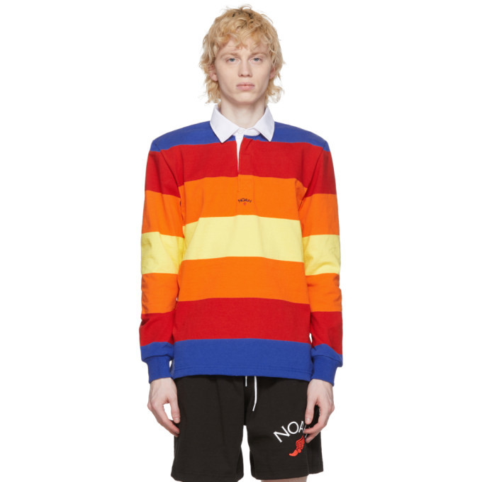 Photo: Noah NYC Multicolor Stripe Rugby Polo
