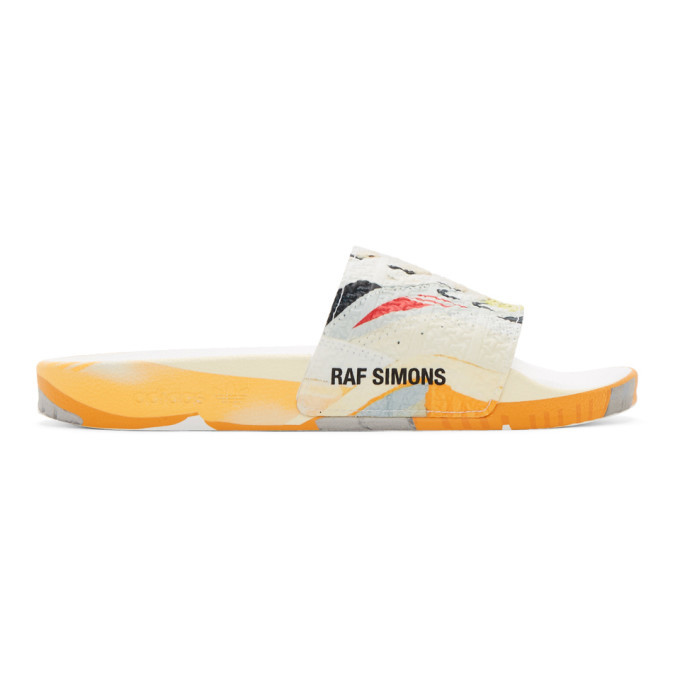 Photo: Raf Simons White adidas Originals Edition Torsion Adilette Slides