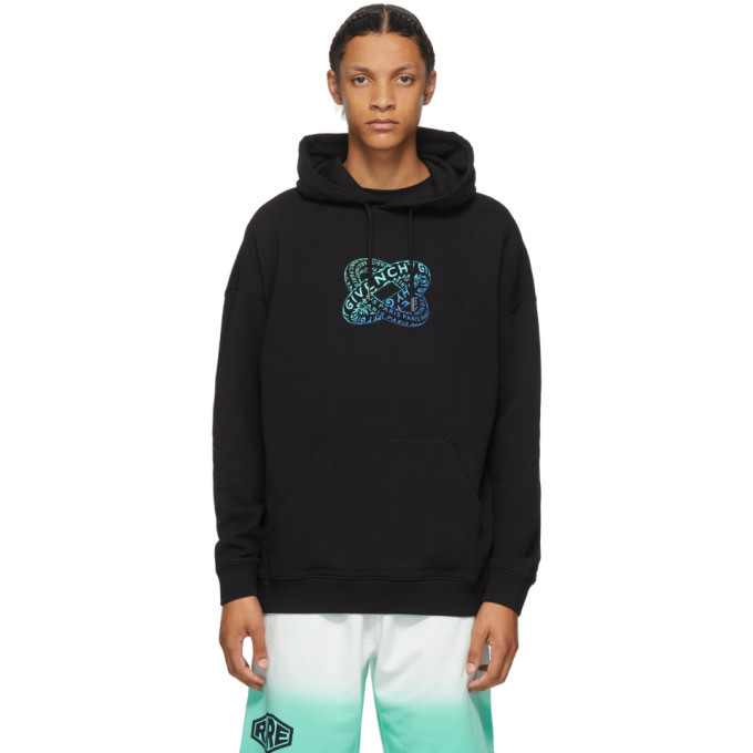 Photo: Givenchy Black Infinity Rings Logo Hoodie