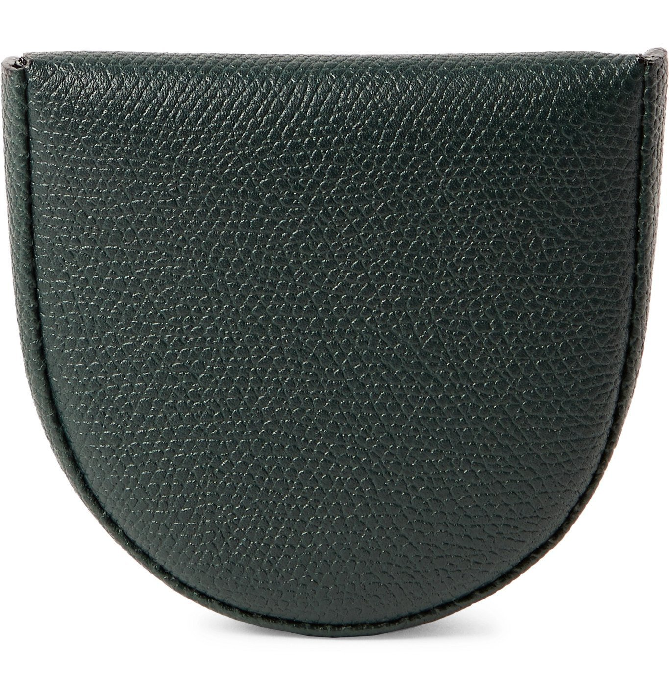 Photo: Valextra - Pebble-Grain Leather Coin Wallet - Green