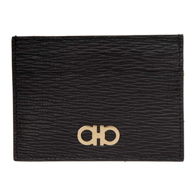 Photo: Salvatore Ferragamo Black Gancini Card Holder