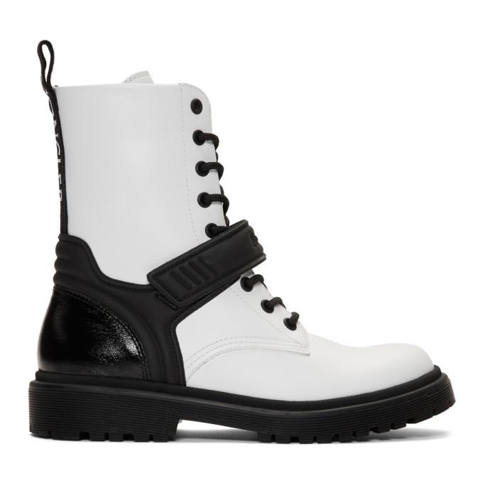 Photo: Moncler White Calypso Combat Boots