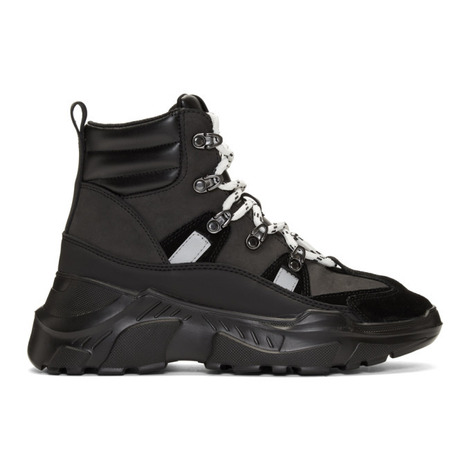 Photo: Versace Jeans Couture Black Speed Hiking Boots