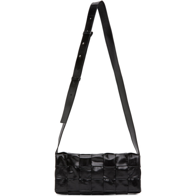 Photo: Bottega Veneta Black Intrecciato Cassette Bag