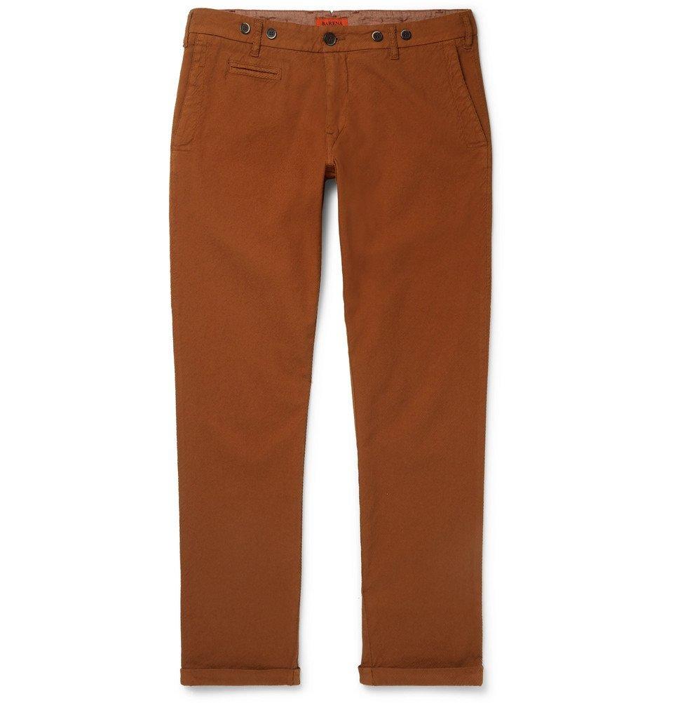 Photo: Barena - Rampin Stretch-Cotton Twill Trousers - Brown