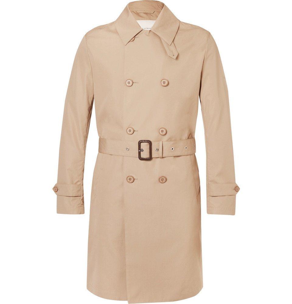 Photo: Mackintosh - Slim-Fit Belted Bonded-Cotton Raincoat - Men - Beige