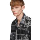 Sacai Black Bandana Print Shirt
