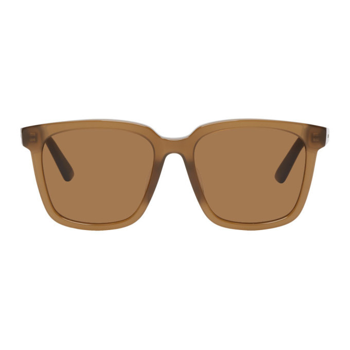 Photo: Bottega Veneta Brown Square Sunglasses