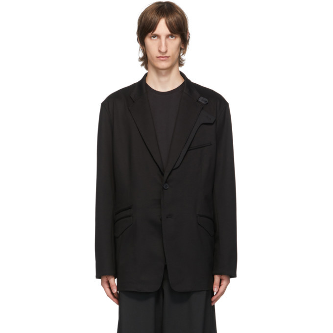 Photo: Y-3 Black Classic Sporty Ponti Blazer
