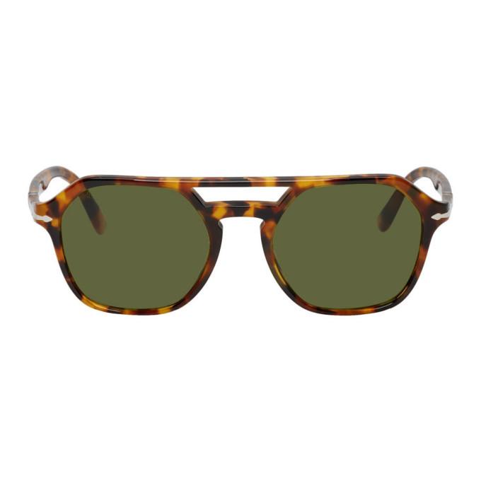 Photo: Persol Tortoiseshell and Green Madreterra Sunglasses