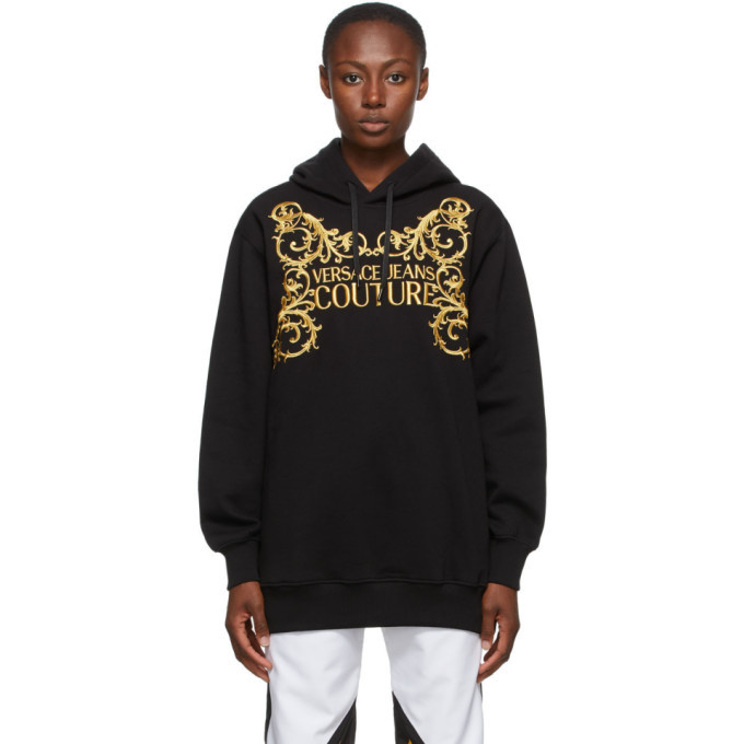 Photo: Versace Jeans Couture Black Institutional Logo Hoodie