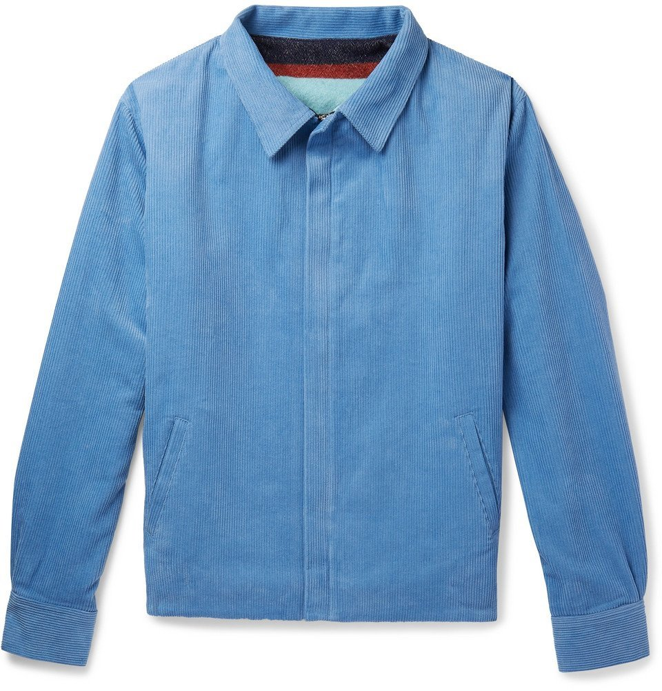 Photo: The Elder Statesman - Cotton-Corduroy Jacket - Light blue