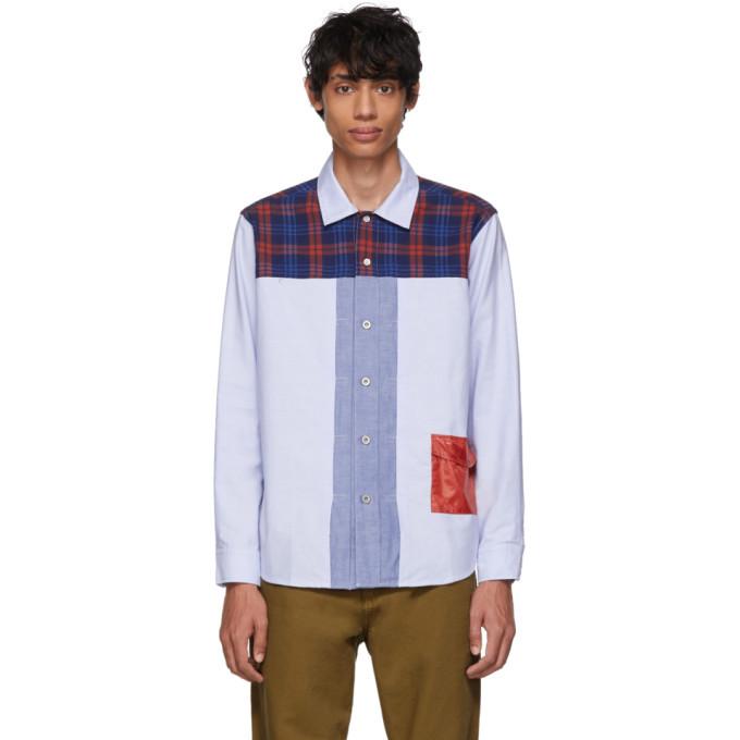 Photo: Clot Blue Plaid Panel Shirt