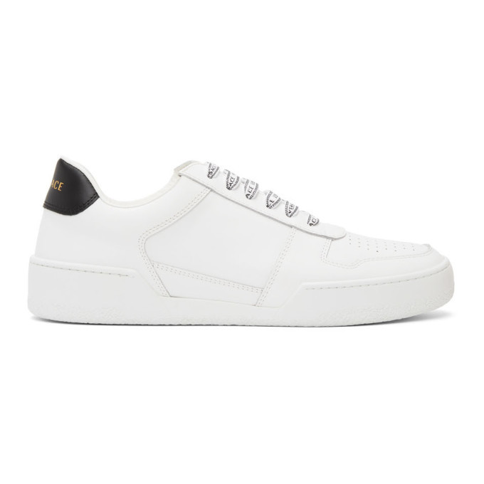 Photo: Versace White and Black Ilus Sneakers