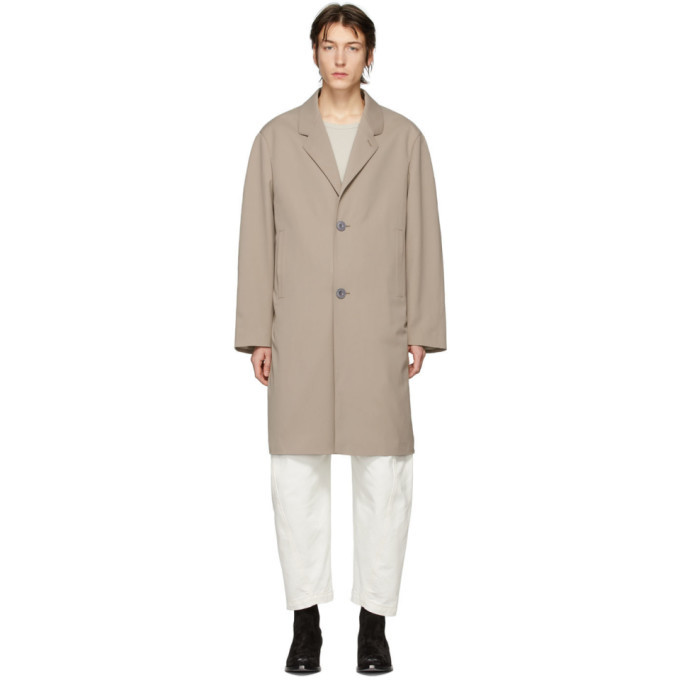 Photo: Lemaire Beige Wool Chesterfield Coat
