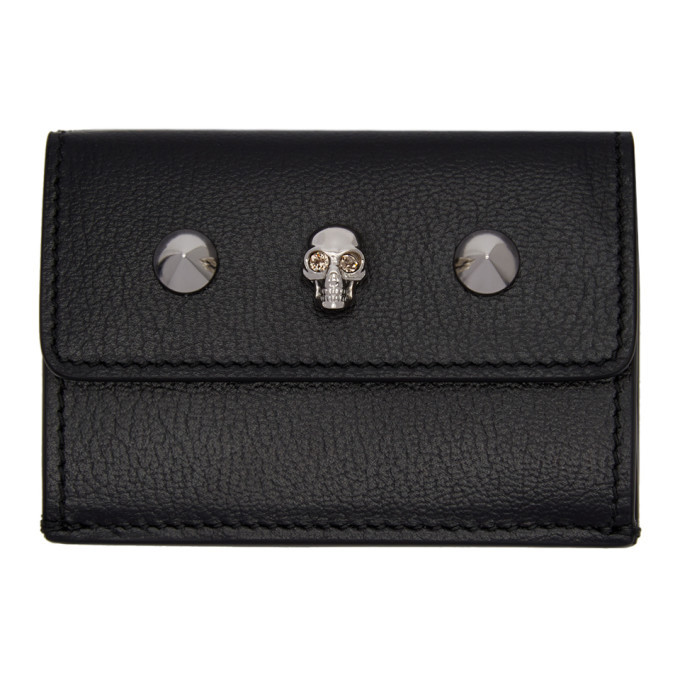 Photo: Alexander McQueen Black Mini Trifold Skull Wallet