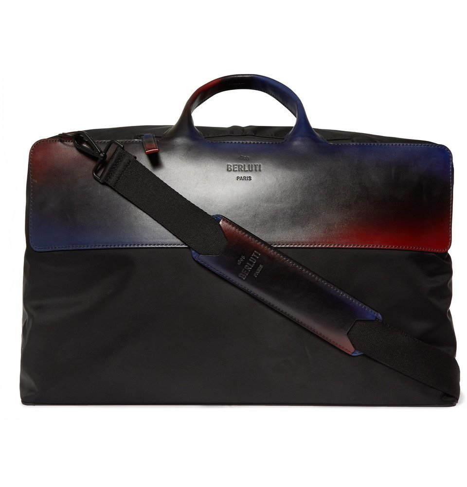 Photo: Berluti - Cube Shell and Leather Holdall - Black
