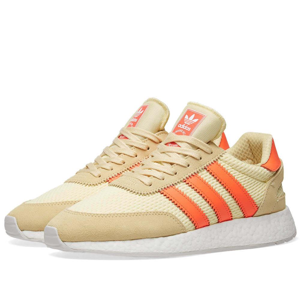 Adidas I-5923 Clear Yellow, Solar Red & Grey