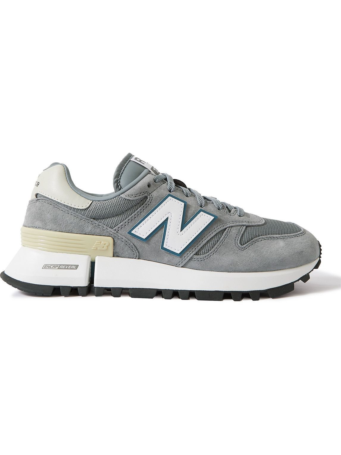 Photo: New Balance - RC_1300 Suede, Mesh and Leather Sneakers - Gray