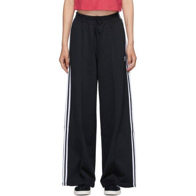 Photo: adidas Originals Black Primeblue Wide-leg Lounge Pants