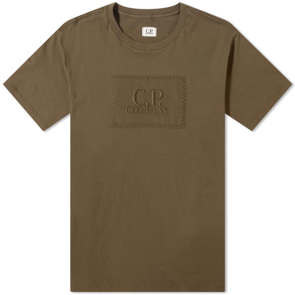 Photo: C.P. Company Embroidered Stitch Block Logo Tee