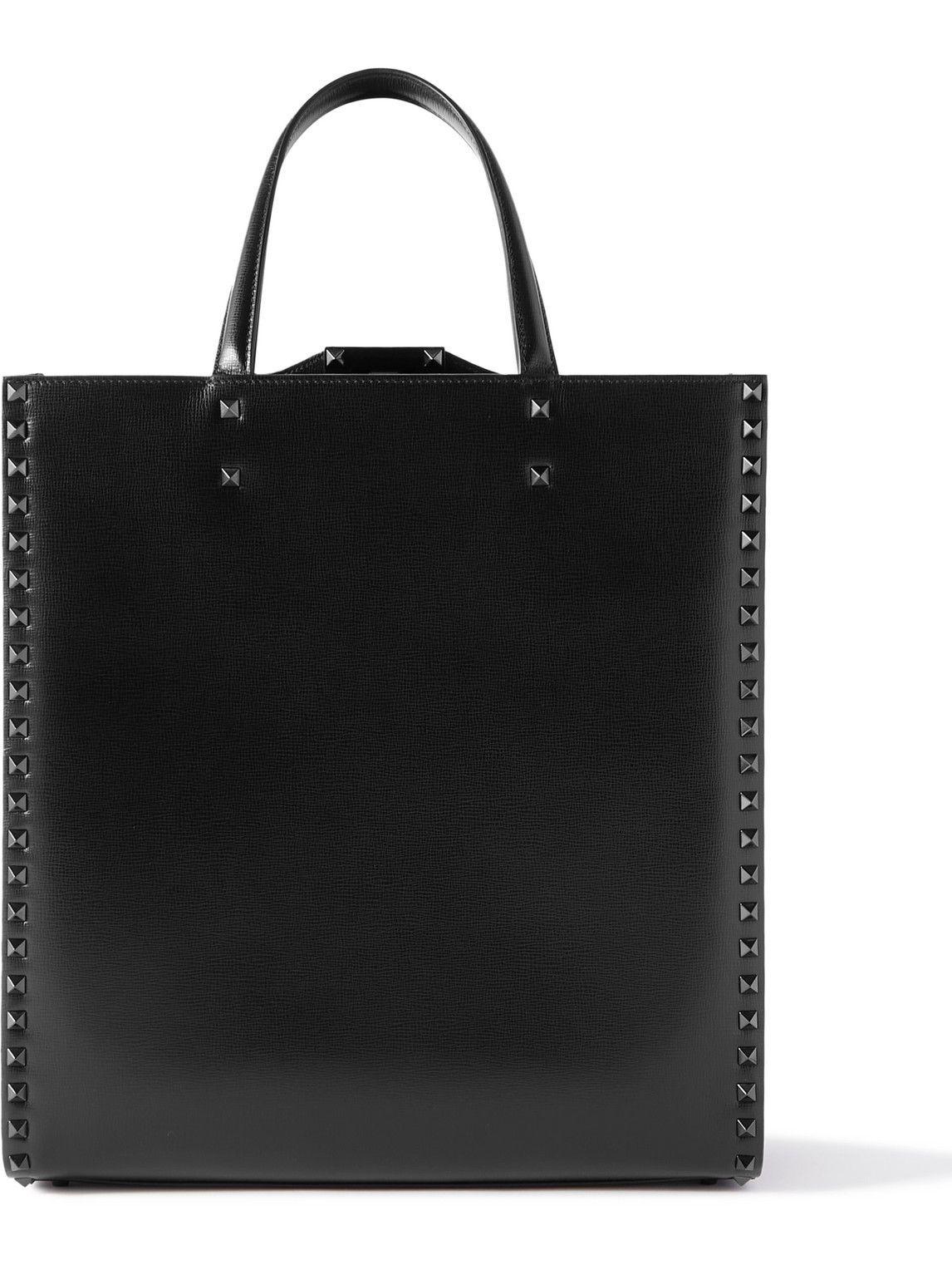 Photo: Valentino - Valentino Garavani Rockstud Leather Tote Bag