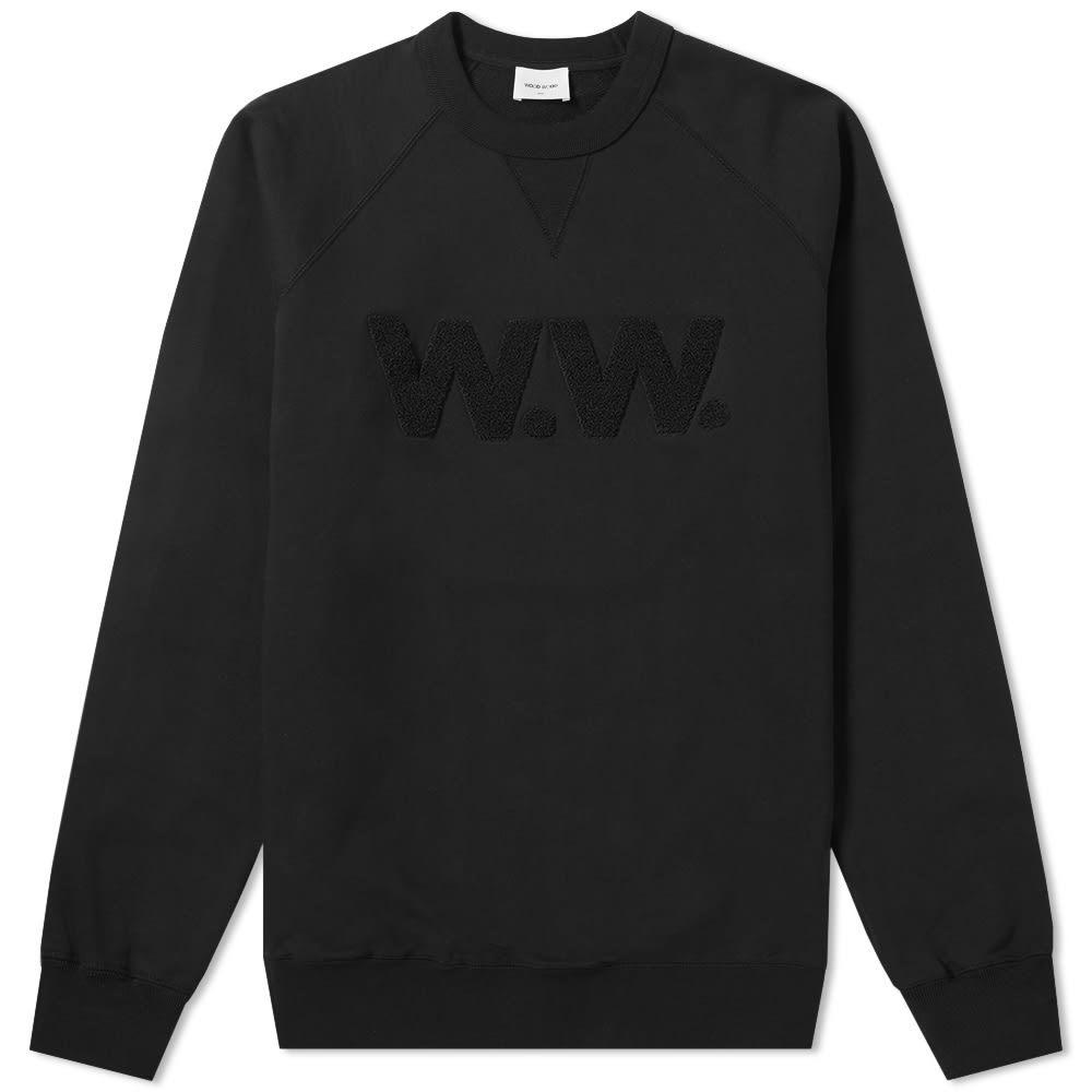 Photo: Wood Wood Hester WW Crew Sweat Black