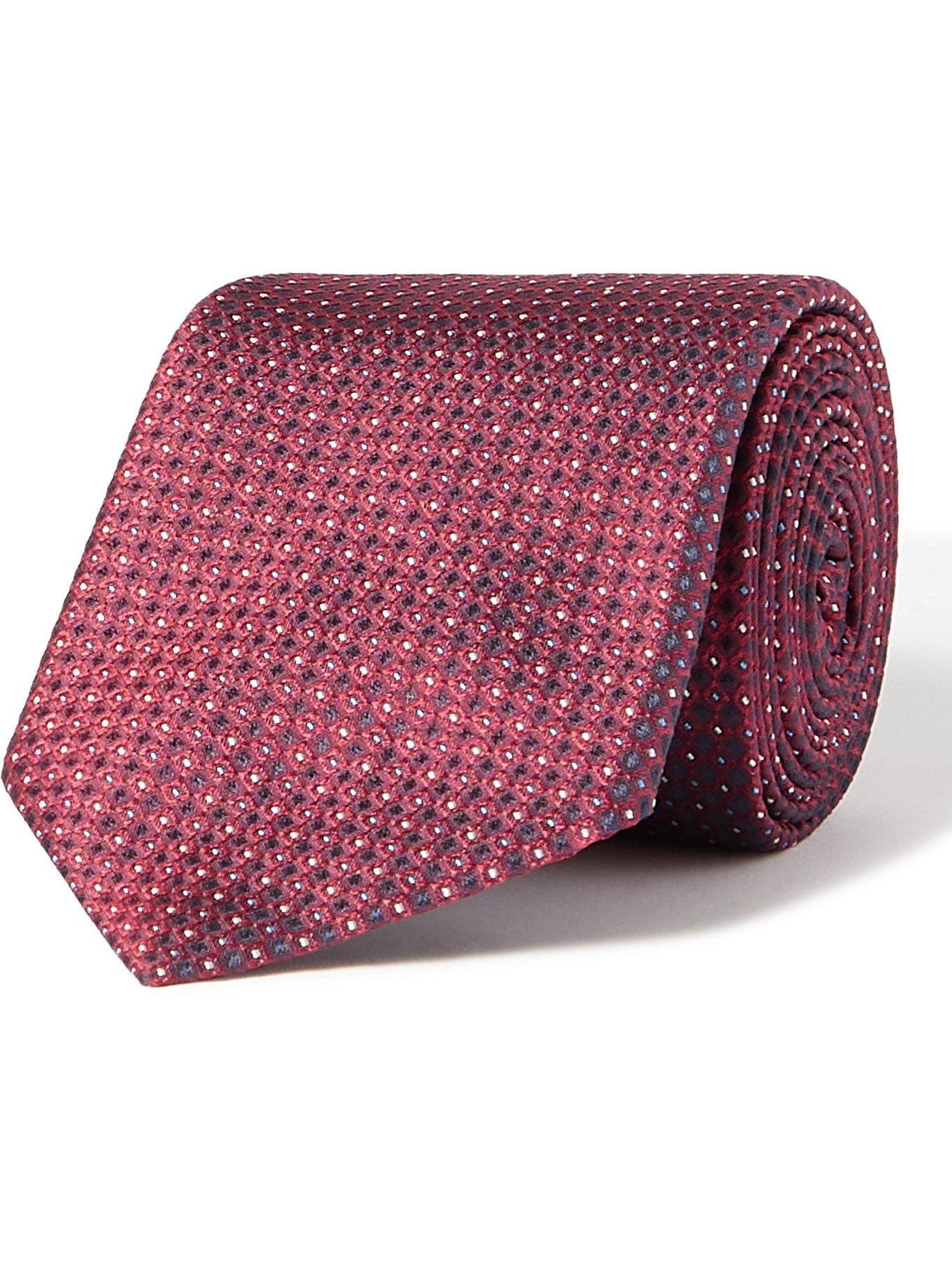 Photo: HUGO BOSS - 6cm Silk-Jacquard Tie - Burgundy
