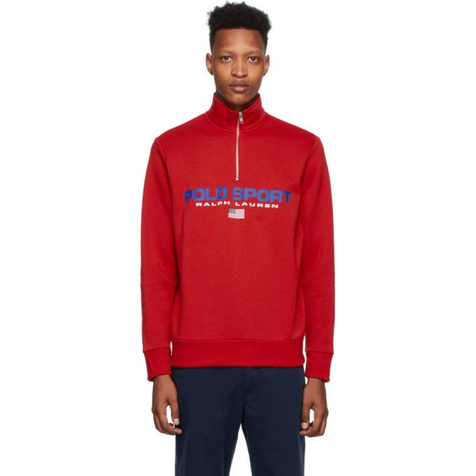 Photo: Polo Ralph Lauren Red Polo Sport Fleece Sweatshirt