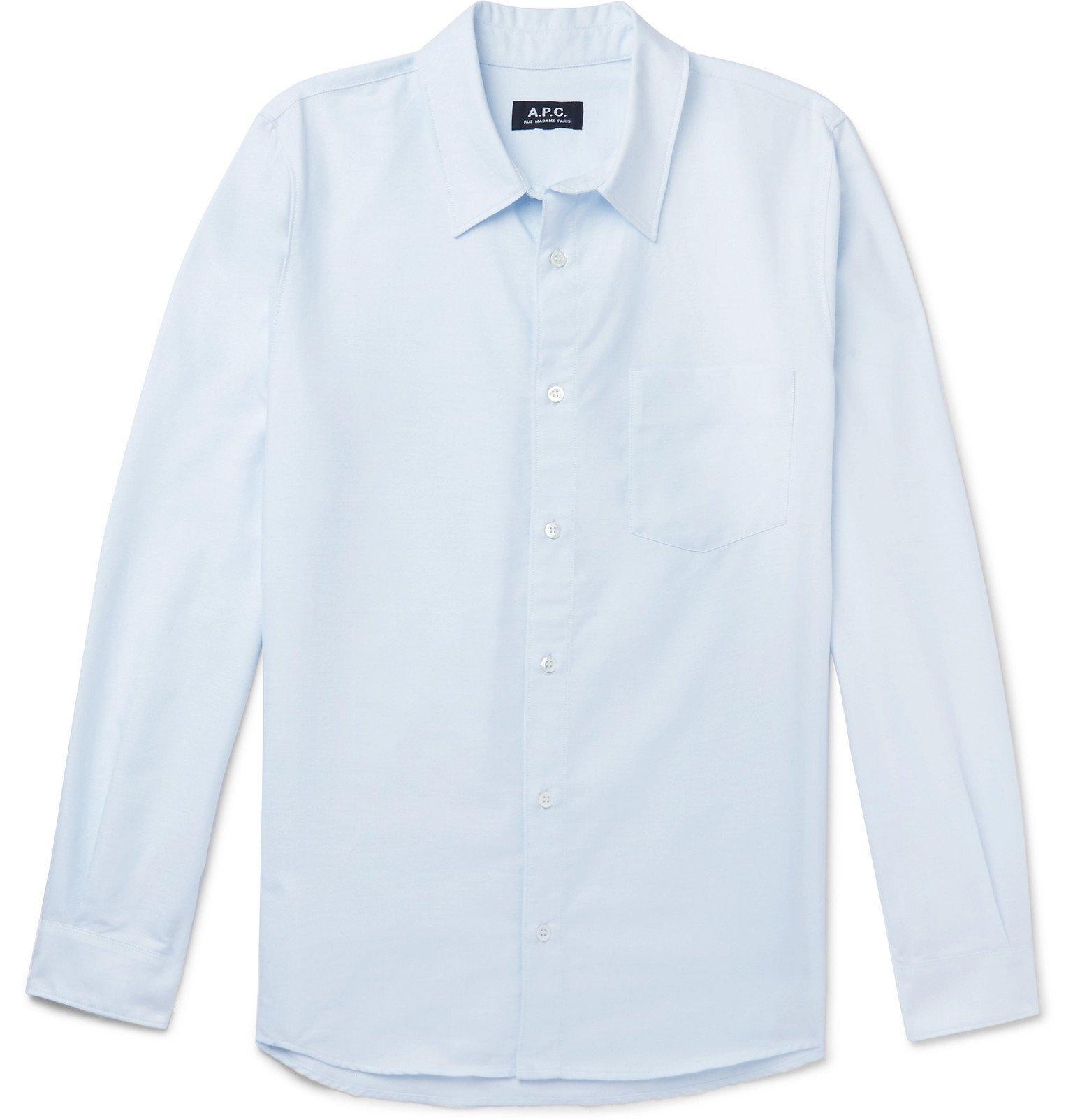 Photo: A.P.C. - 92 Cotton Oxford Shirt - Blue