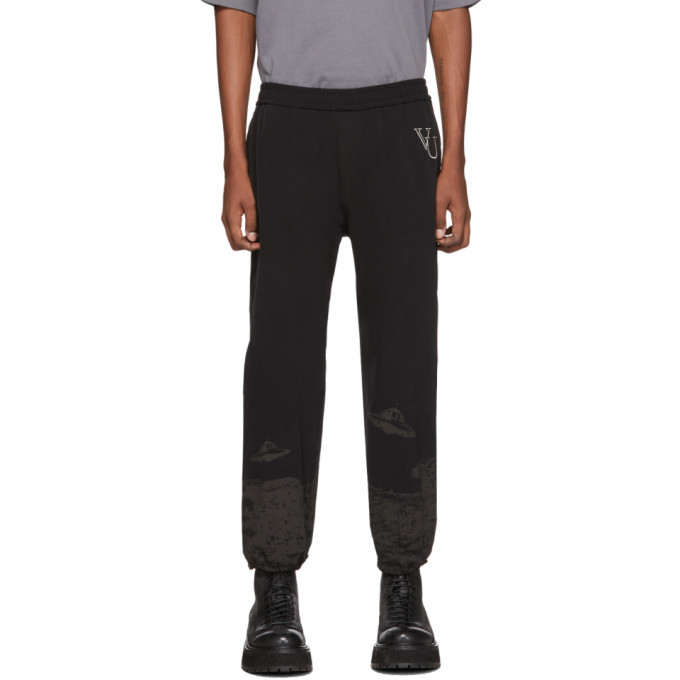 Photo: Undercover Black Valentino Edition Printed Track Pants