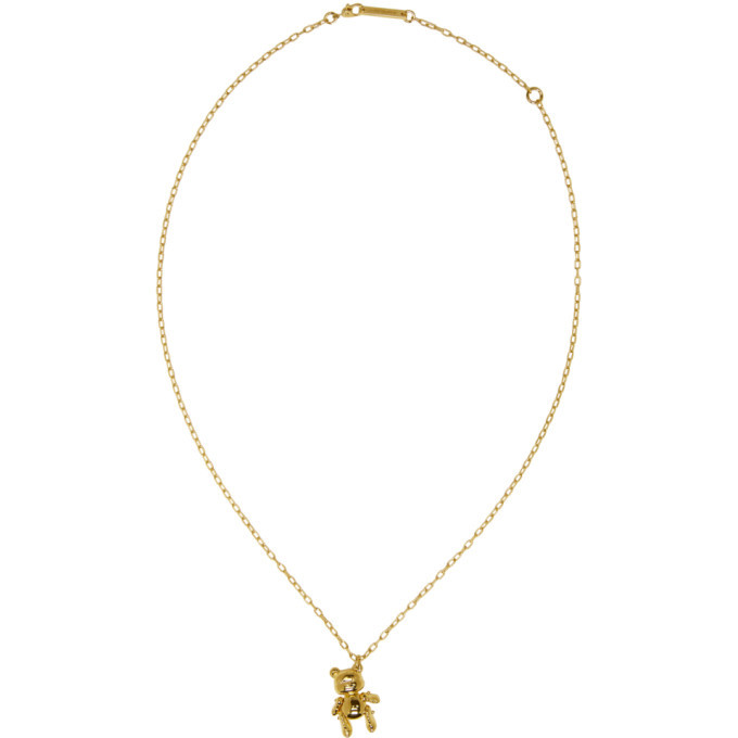 Photo: Ambush Gold Inflated Teddy Bear Necklace
