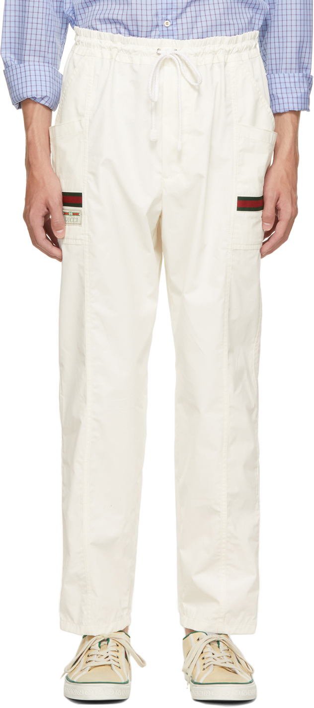 Photo: Gucci Off-White Canvas Cargo Pants