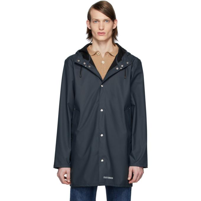 Photo: Stutterheim Navy Stockholm Lightweight Raincoat
