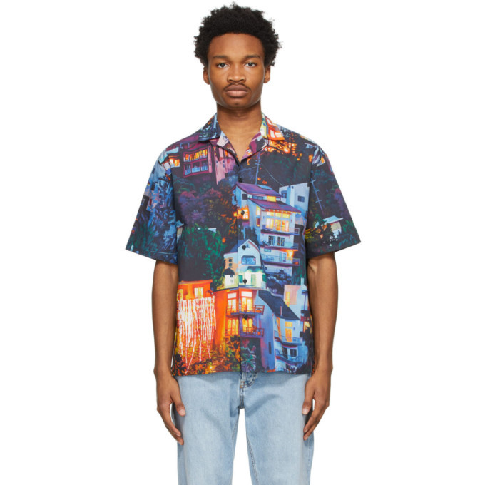 Photo: MSGM Multicolor Seth Armstrong Edition Graphic Short Sleeve Shirt