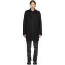 1017 ALYX 9SM Black Felt Tailored Coat