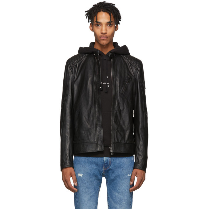 Photo: Belstaff Black V Racer Jacket