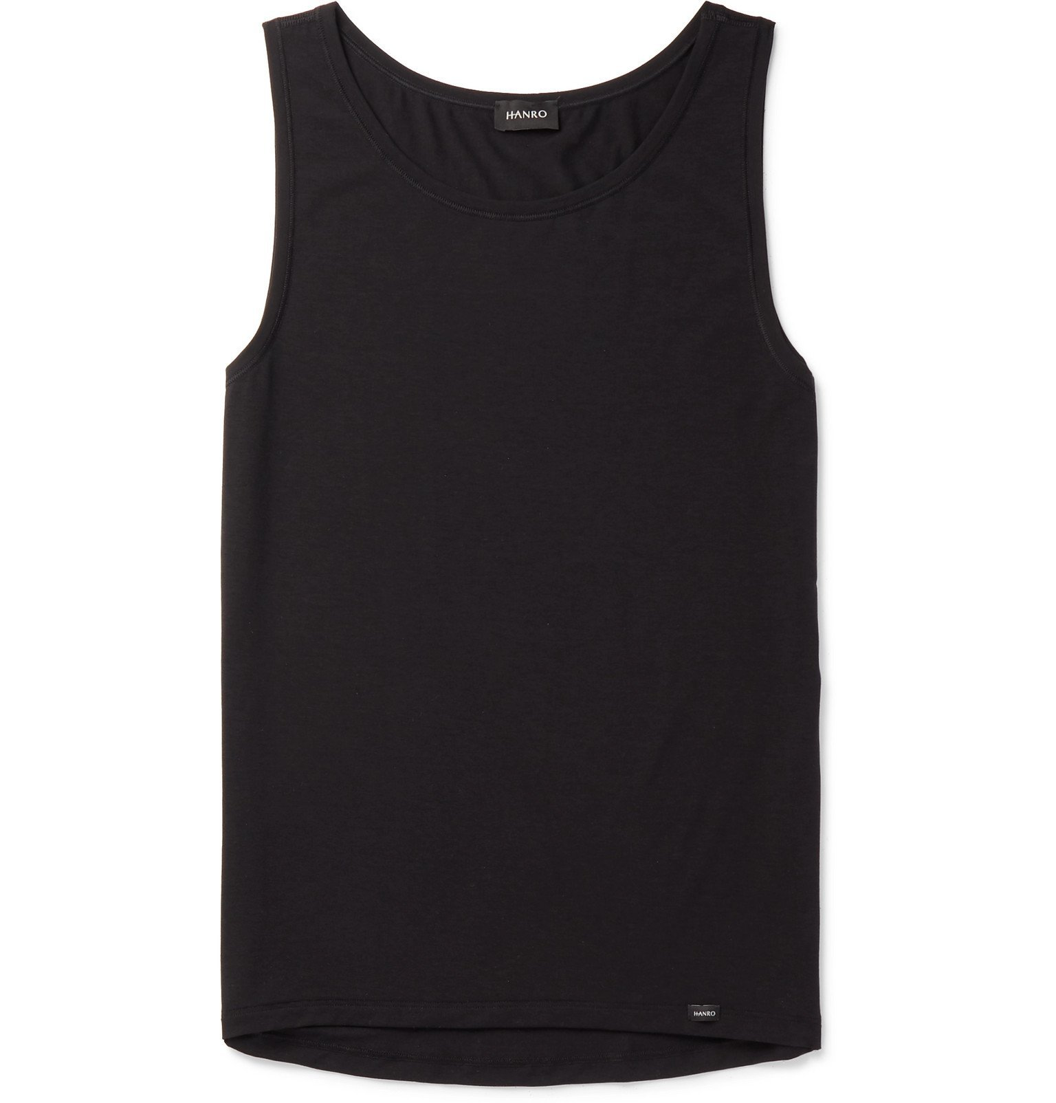 Photo: Hanro - Stretch Lyocell and Cotton-Blend Tank Top - Black
