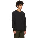 C.P. Company Black Nylon Stretch Double Sweatshirt