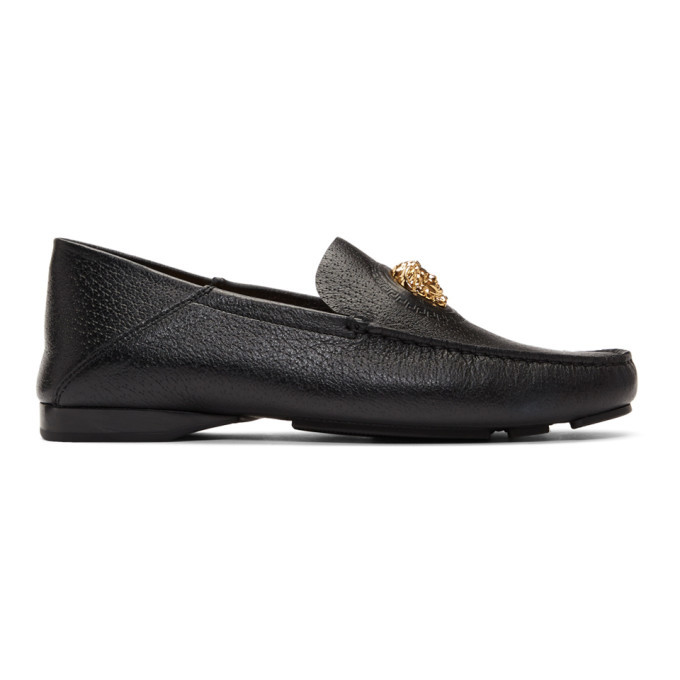 Photo: Versace Black Medusa Driving Loafers
