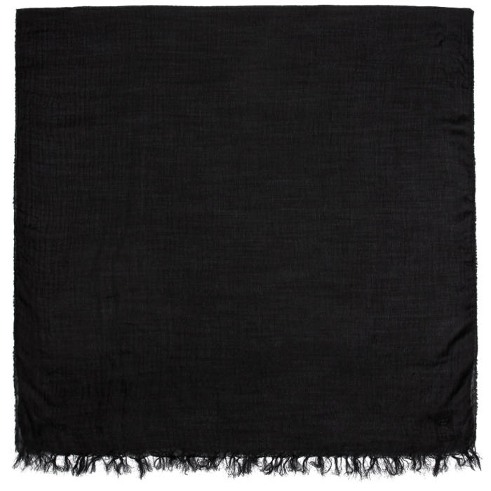 Photo: The Viridi-anne Black Silk and Wool Scarf