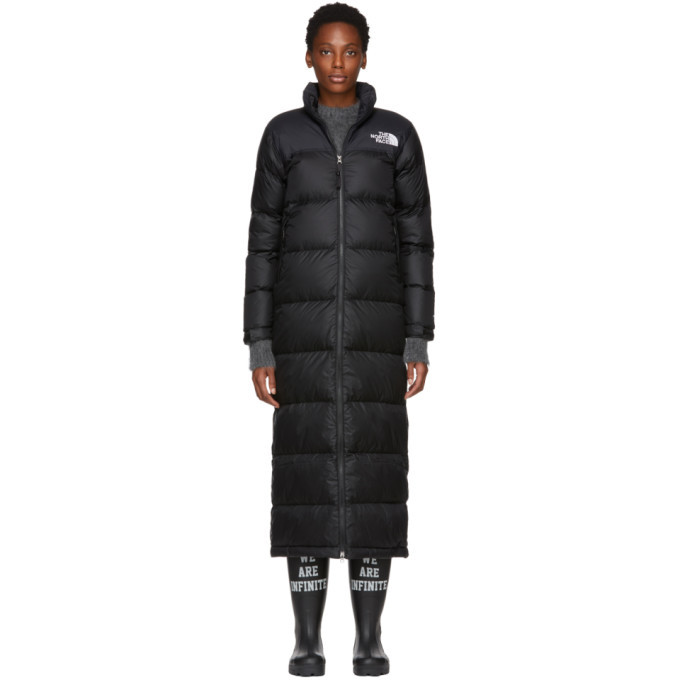 Photo: The North Face Black Down Nuptse Duster Jacket