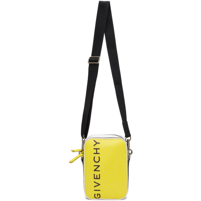 Photo: Givenchy Yellow and Black MC3 Crossbody Bag