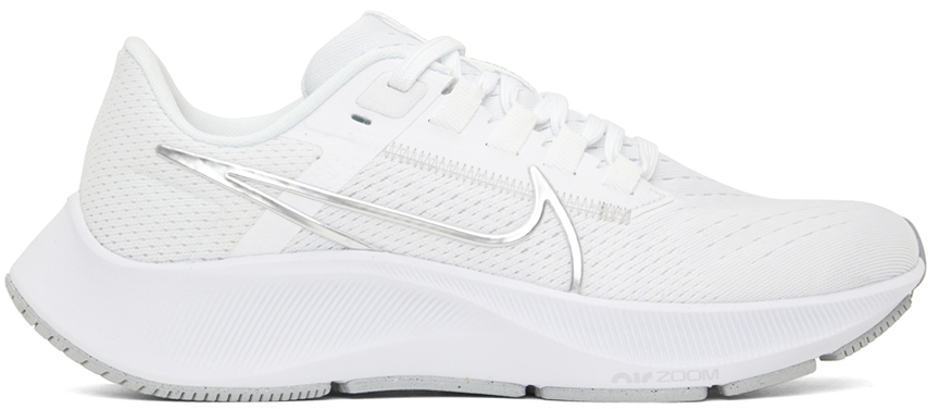Photo: Nike White Air Zoom Pegasus 38 Sneakers