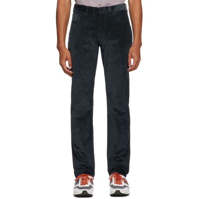 PS by Paul Smith Blue Corduroy Tapered Fit Trousers