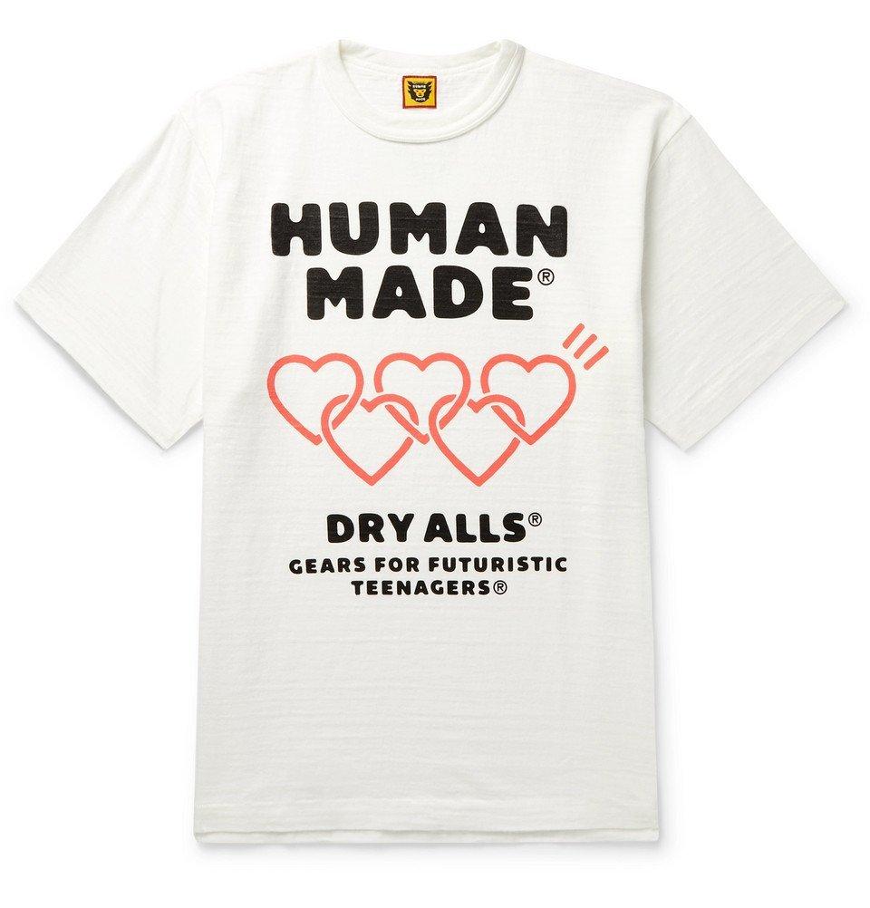 Photo: Human Made - Logo-Print Slub Cotton-Jersey T-Shirt - White